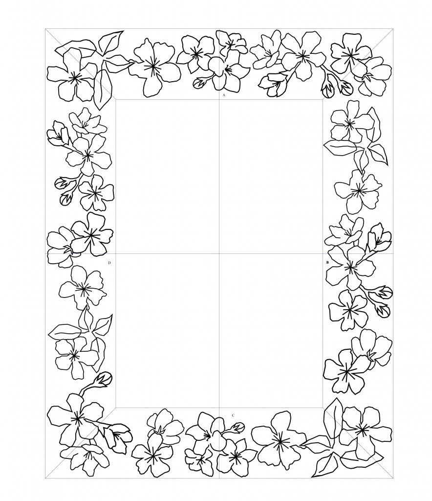 Mirror Frame Drawings Glass Size And Frame Size