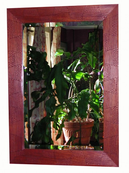 Mirror Frame Carved in Mahogany