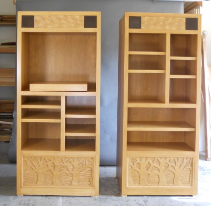 These Fireplace Cabinets With Shelving And Tv Pullout Are Made Of Maple Carved Panels A Variety Adjule Shelves Swivel