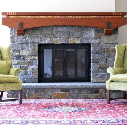 Large Yoke Shaped Mantel