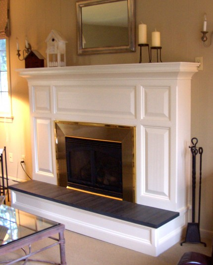 Fireplace Face And Mantel Surround Over Existing