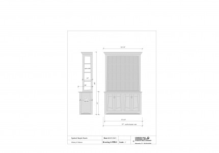 Cad design of spalted maple hutch and planning services