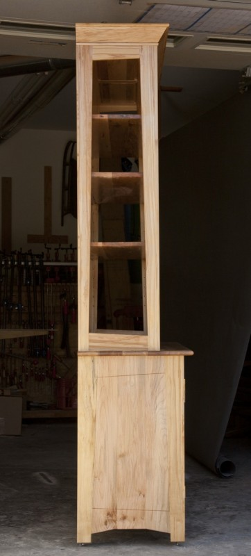 Side View spalted maple hutch